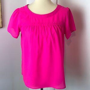 Japna Neon Pink Short Sleeve Blouse S